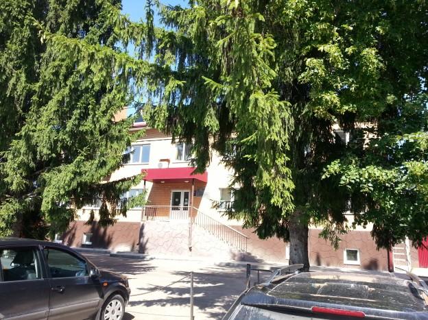 Заокский, Третий проезд, здание справа. Заезд с улицы Ленина
