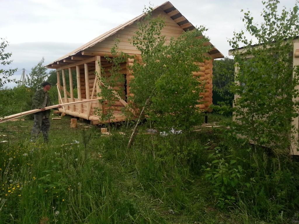 участок 20 соток с летним домиком и баней в Поленово