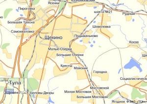 карта тульской обл